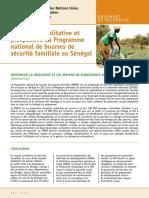 Evaluation qualitative du programme de transfert monétaire des bourses de sécurité familiale au Sénégal