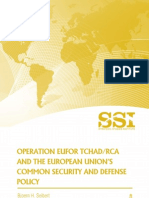 Operation EUFOR TCHAD/RCA and the EU's Common Security and Defense Policy