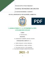 LABORATORIO 11 - INTERPRETACIÓN DE ANÁLISIS DE SUELOS - GRUPO 1-A (EDAFOLOGÍA) (1) (2)