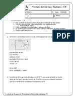 Avaliação de pesquisa 02 - Princípios de Eletrônica Analógica