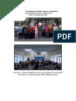 Dokumentasi Kegiatan Pelatihan Acessor Kompetensi