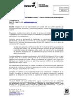 Oficio Ade - Comite Operativo de Convivencia Escolar - Jul21