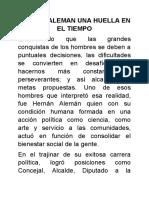HERNÁN ALEMAN UNA HUELLA EN EL TIEMPO