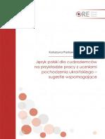 k Paslawska-iwanczewska Jez Polski Dla Cudzoziemcow