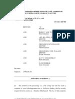 A v Fairfax NZ Ltd Judgment 280311