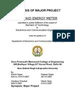 Prepaid Energy Meter Synopsis