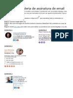 Modelo de galeria de assinatura de email