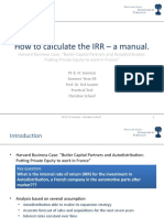 How to calculate the IRR – a manual