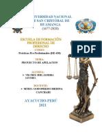 Recurso de apelación contra sentencia de primera instancia - Enma Lucy Salcedo Vargas