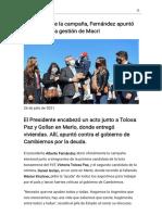 En el inicio de la campaña, Fernández apuntó duro contra la gestión de Macri - Modo de lectura