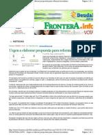 23-03-11 Urge elaborar propuesta para Reforma Hacendaria