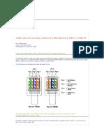 Cable de red cruzado y directo LAN Ethernet 10bT o 100bTX