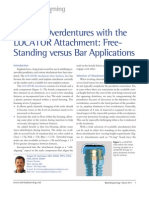 Product Focus Implant Overdentures with the LOCATOR Attachment Free Standing versus Bar Applications