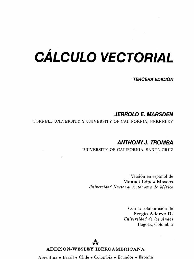 vector calculus marsden 6th edition solutions manual pdf