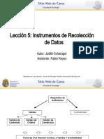 Instrumentos investigación