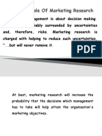 Role of Marketing Research Class 2