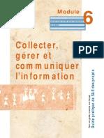 Collecter, gérer et communiquer l'info