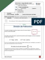 GUIA 10 - Matemáticas 8 - División de Polinomios