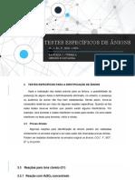 TESTES ESPECÍFICOS DE ÂNIONS