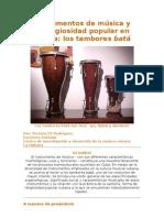Instrumentos de música y religiosidad popular en Cuba