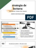 Estrategia de Lectura Nivel Inferencial Sintetizarinferirinterpretar