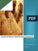 Résumé de Module Mathématiques Financières