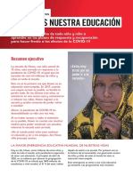 Save Our Education Exec Summ SPANISH