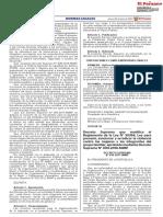 MIMP Modificación Ley 30364 DS 016 2021