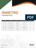 Inmetro Dos Inversores-helte 06-10-2020