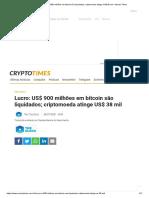 Lucro_ US$ 900 milhões em bitcoin são liquidados; criptomoeda atinge US$ 38 mil – Money Times