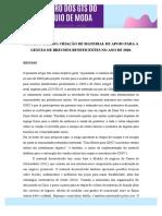 G7 - PROJETO CARIÑO- CRIAÇÃO DE MATERIAL DE APOIO PARA A GESTÃO DE BRECHÓS BENEFICENTES NO ANO DE 2020