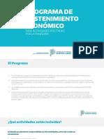 ANR - Programa de Sostenimiento Económico f