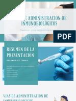 Vias de Administracion de Inmunobiologicos
