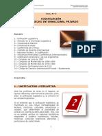 Tema Nº 2 Codificacion del Derecho Internacional Privado