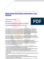 Motto dan Kata-Kata Mutiara Untuk Skripsi, Tesis, Disertasi