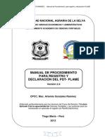 MANUAL DE PROCEDIMIENTO PARA REGISTRO Y DECLARACIÓN DEL PDT- PLAME