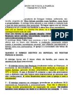 TRAZENDO DE VOLTA A FAMÍLIA