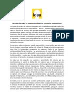 IDEA defiende a Macri