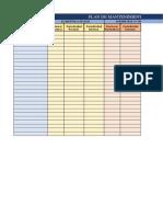 Plantilla Excel Mantenimiento Preventivo