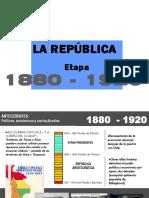 LA ARQUITECTURA ENTRE 1880-1920