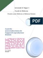 4. Contrôle Neuroendocrinien de L_appareil Reproducteur Féminin (Polycopié) (Pr BOUAZIZ)