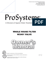 Aquion Prosystems Whole House Water Filter Manual