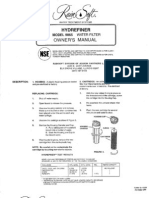 Rainsoft 9865 HYDREFINER filter owners manual
