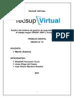 Trabajo Grupal TECSUP VIRTUAL No Conformidades[1]