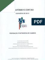 Relatório e Contas de 2010 da Federação Portuguesa de Xadrez