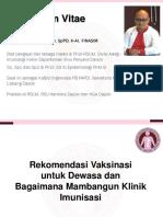 01-Rekomendasi Vaksin Dewasa dan Bagaimana Membangun Klinik Vaksinasi - Dr Sukamto