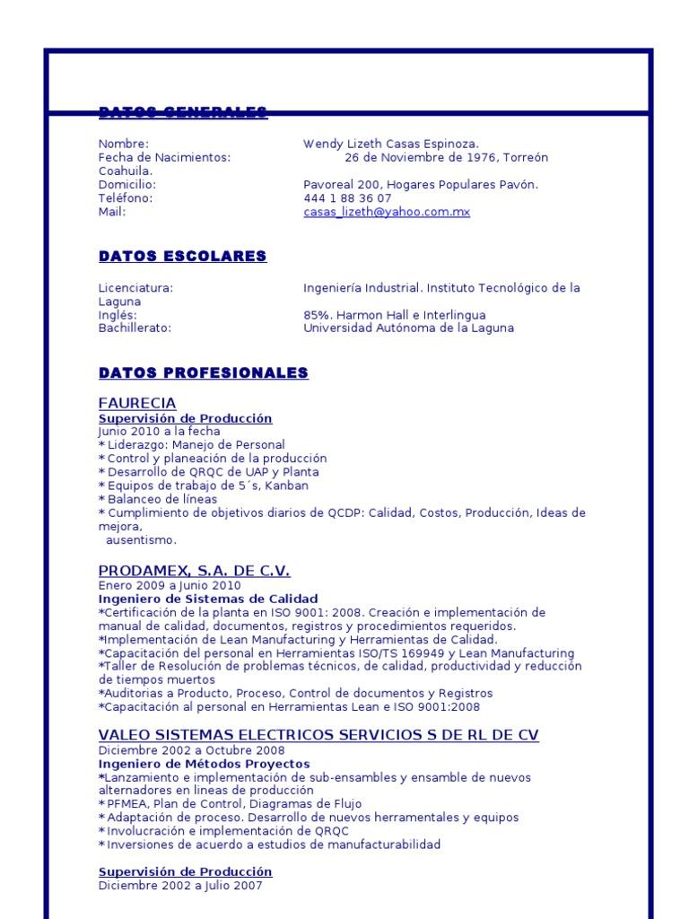 Moderno Reanudar Ingeniero De Calidad Senior Embellecimiento ...