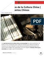 Aportaciones de la Cultura China e Inventos Chinos ?