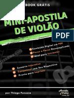 E Book Mini Apostila de Violao Por Thiago Fonseca Www.acordesviolao.com .Br E b