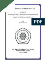 KONSEP DASAR PENDIDIKAN ISLAM